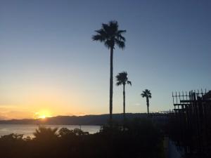 リゾ成尾浜からの夕日はめっちゃきれい